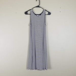 Old Navy Black & White Stripe Tank Dress Small